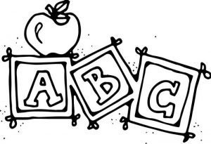 Easy Coloring Pages Abc