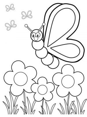 Easy Coloring Pages Butterfly