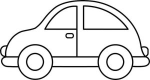 Easy Coloring Pages Car,Easy coloring Images for kids