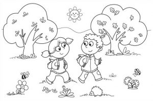 Easy Coloring Pages Children