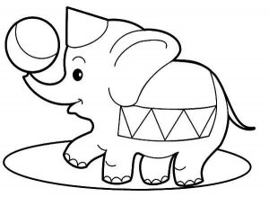 Easy Coloring Pages Elephant