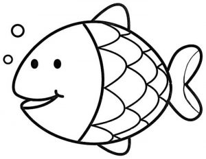 Easy Coloring Pages Fish