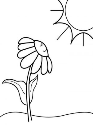 Easy Coloring Pages Flower