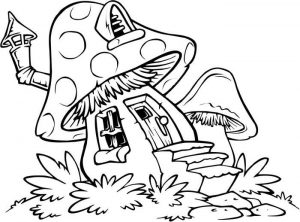 Easy Coloring Pages Mushroom,Easy coloring Images for kids