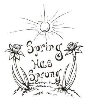 Easy Coloring Pages Spring