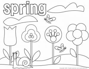 Easy Coloring Pages Spring Flowers,Easy coloring Images for kids