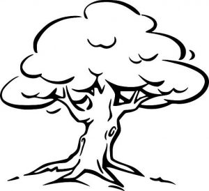Easy Coloring Pages Tree,Easy coloring Images for kids