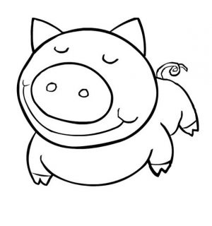 Easy Coloring Pages Pig