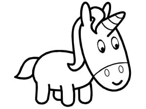 Easy Coloring Pages Unicorn,Easy coloring Images for kids